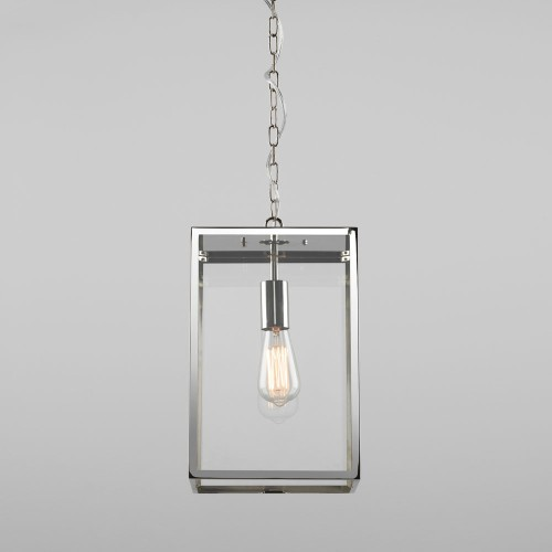 Homefield Pendant 360 in Polished Nickel with Transparent Glass IP23 E27/ES for Exterior Lighting, Astro 1095020