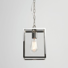 Homefield Pendant 240 in Polished Nickel with Transparent Glass IP23 E27/ES for Exterior Lighting, Astro 1095019
