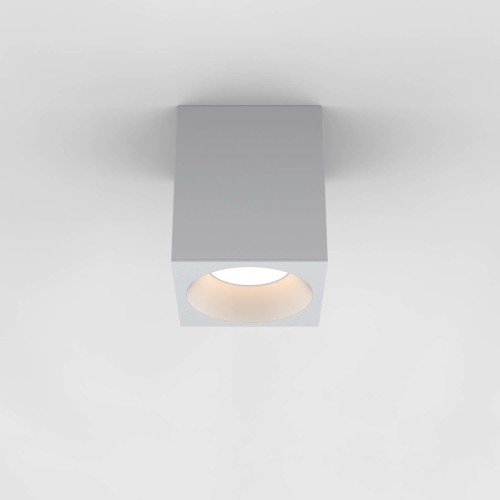 Kos Square 140 LED Textured White Ceiling Spotlight IP65 rated c/w 11.9W 3000K LED, Astro 1326022