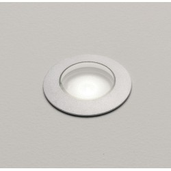 Terra 42 LED Round Ground Light in Anodised Aluminium IP67 2.2W 3000K Dimmable 40mm Cutout, Astro 1201002