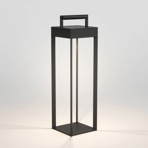 Kuro 450 Textured Black Solar-powered Portable Floor LED Light IP44 with USB Charging (dimmable), Astro 1430002