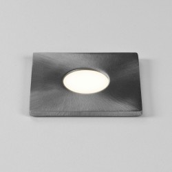 Terra Square 28 LED Light IP65 1W 3000K Brushed Stainless Steel for Floor, Ceiling, or Wall, Astro 1201004