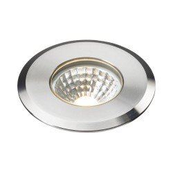 IP65 5W Round Ground Light LED in Stainless Steel 3000K 240lm with 2m Flex Cable, Knightsbridge LEDGL5