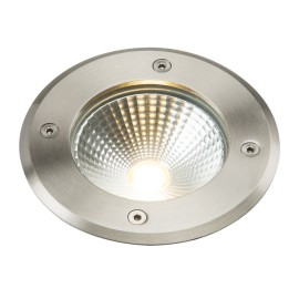 IP65 6W Round Ground Light LED in Stainless Steel 3000K 405lm with 2m Flex Cable, Knightsbridge LEDGL6