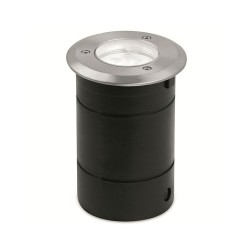 IP65 GU10 Stainless Steel Fixed Round Recessed Walkover Light with Mounting Sleeve and MR16 Lampholder