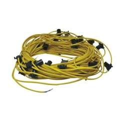 110V 100m Festoon Cable Set Arctic Yellow with 3m Spacing ES 60W max. Lampholders
