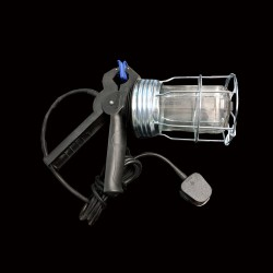 240V Standard Gripper Inspection Hand Lamp Heavy Duty 3m Cable taking 1 x max. 60W BC/B22 Lamp