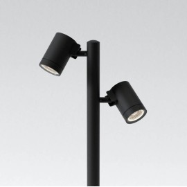 Bayville Spike Spot 900 Twin LED Spotlight IP65 in Textured Black 15.7W LED 3000K 490lm Dimmable Astro 1401013