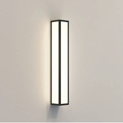 Salerno 520 LED Textured Black Outdoor Wall Light with White Glass Diffuser IP44 15.4W LED, Astro 1178008