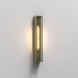 Harvard 500 Wall Lamp in Natural Brass IP44 1 x 4W LED E27/ES Outdoor Light Astro 1402006