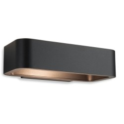Firstlight 8669GP Sofia 5W LED Outdoor Wall Light IP54 Rated in Graphite Diecast Aluminium