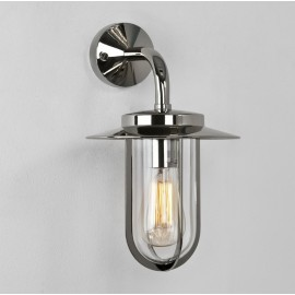 Montparnasse Polished Nickel Outdoor Wall Light with Clear Shade IP44 using E27 max. 60W, Astro 1096001