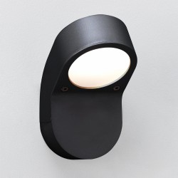 Soprano Textured Black Outdoor Wall Light IP44 rated using 9W max GX53 Astro 1131004