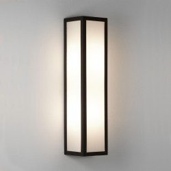 Salerno Textured Black Outdoor Wall Light with White Opal Diffuser IP44 2 x E14 max. 40W, Astro 1178001