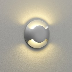 Beam Two Round LED Light IP67 rated 2.2W 3000K Matt Painted Silver 1000h Salt Spray Tested, Astro 1202002
