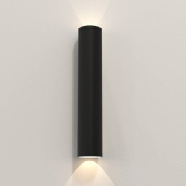 Ava 400 Wall Light in Textured Black using 2 x 6W max. LEDs GU10 IP44 for Up-Down Outdoor Wall Lighting, Astro 1428013