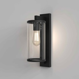 Pimlico 400 Textured Black with Clear Glass Diffuser IP23 for Outdoor Lighting E27/ES, Astro 1413001