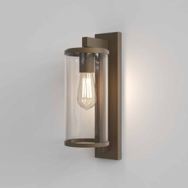 Pimlico 400 Bronze Wall Light with Clear Glass Diffuser IP23 for Outdoor Lighting 12W LED E27/ES, Astro 1413002
