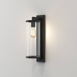 Pimlico 500 Textured Black with Clear Glass Diffuser IP23 for Outdoor Lighting E27/ES, Astro 1413004