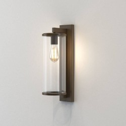 Pimlico 500 in Bronze with Clear Glass Diffuser IP23 for Outdoor Wall Lighting using 1 x12W LED E27/ES, Astro 1413005