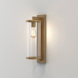 Pimlico 500 Antique Brass with Clear Glass Diffuser IP23 for Outdoor Lighting E27/ES, Astro 1413006