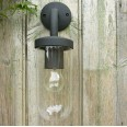 Tressino Textured Black Outdoor Wall Light with Clear Diffuser IP44 using 1x E27 max. 60W, Astro 1193004