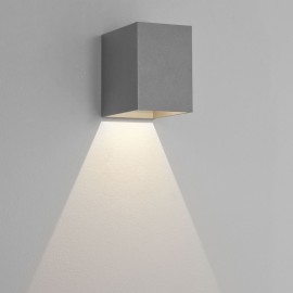 Oslo 100 LED Wall Light in Textured Painted Silver IP65 3.8W 3000K for Exterior Lighting, Astro 1298003
