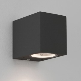 Chios 80 Textured Black Wall Light GU10 LED max. 6W Dimmable IP44, 1000h Salt Spray Tested, Astro 1310002