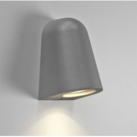 Mast Textured Painted Silver Surface Wall Light IP65 rated GU10 max. 35W for Outdoor, Astro 1317001