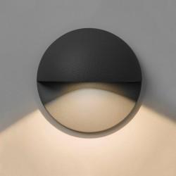 Tivoli LED Round Eyelid 2W 3000K IP65 in Textured Black for Exterior Lighting 80mm Dia, Astro 1338001
