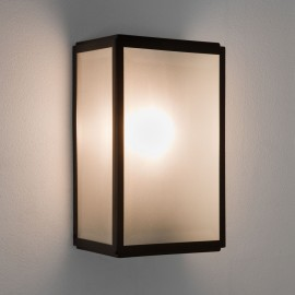 Homefield Matt Black Outdoor Wall Light with Sensor and Frosted Diffuser IP44 E27/ES, Astro 1095011