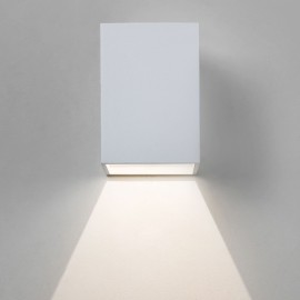 Oslo 100 LED Wall Light in Textured White IP65 3.8W 3000K for Exterior Lighting, Astro 1298005