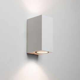 Chios 150 Textured White Outdoor Wall Lamp IP44 for up-down Lighting 2x6W GU10 LED, Astro 1310004