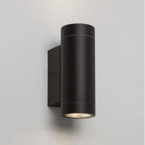 Dartmouth Twin LED Wall Up-down Light in Textured Black 3000K 8.1W IP54 for Outdoor, Astro 1372006