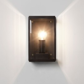 Homefield 130 Exterior Wall Light in Textured Black with Clear Glass IP44 1 x E14/SES Astro 1095013