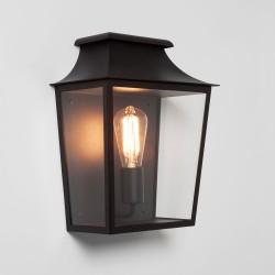 Richmond 285 Textured Black Wall Light IP44 Clear Glass Diffuser 1 x max. 60W E27/ES Astro 1340002