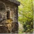 Jura Single Coastal Brass Wall Spotlight using GU10 35W Coastal Light IP44 rated, Astro 1375001