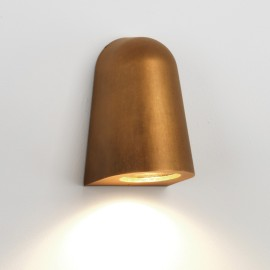 Mast Antique Brass Surface Wall Light IP65 rated using 1 x GU10 35W for Outdoor, Astro 1317003
