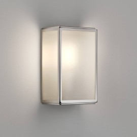 Homefield Frosted Exterior Wall Light in Polished Nickel with Sensor IP44 12W Max LED E27/ES, Astro 1095016