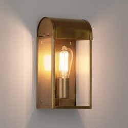 Newbury Antique Brass Outdoor Wall Light with Clear Diffuser IP44 rated E27/ES max. 60W, Astro 1339003