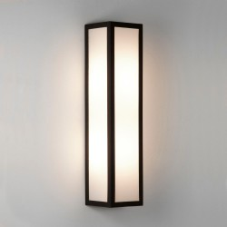 Salerno LED Textured Black Outdoor Wall Light with White Opal Diffuser IP44 3000K 9W, Astro 1178002