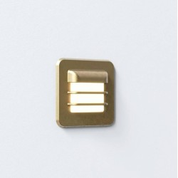 Arran Square LED Coastal Brass Wall Light IP65 using 2W LED 2700K Dimmable, Astro 1379001