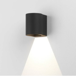 Dunbar 100 Textured Black LED Wall Light 3.7W 3000K IP65 for Wall Up or Down Lighting, Astro 1384003