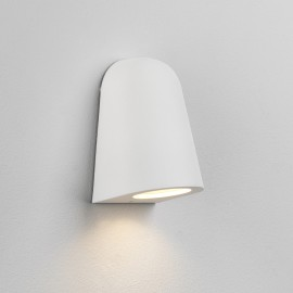 Mast Matt White Surface Wall Light IP65 rated using 1 x GU10 35W for Outdoor, Astro 1317004