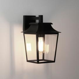 Richmond 200 Textured Black Wall Lantern IP23 Clear Glass Diffuser 1 x max. 60W E27/ES Astro 1340004