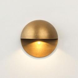 Tivola LED Coastal Round Eyelid 2W 3000K IP65 in Coastal Brass for Wall Lighting 80mm Dia, Astro 1338004