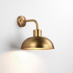 Stornoway Antique Brass Outdoor Wall Lantern IP33 1 x ES/E27 max. 40W, Coastal Light Astro 1389001