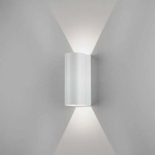 Dunbar 255 LED Textured White Wall Light 7.9W 3000K IP65 for Wall Up-Down Lighting, Astro 1384007