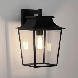Richmond 254 Textured Black Wall Lantern IP23 Clear Glass Diffuser 1 x max. 60W E27/ES Astro 1340011