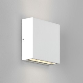 Elis Twin LED Lamp Textured White 8.2W 3000K IP54 for Up/Down Outdoor Wall / Ceiling Lighting, Astro 1331009